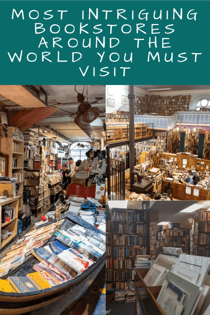 Bookstores Around the World Pinterest Pin
