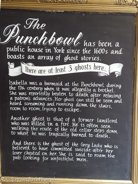 The Punchbowl public house in York England