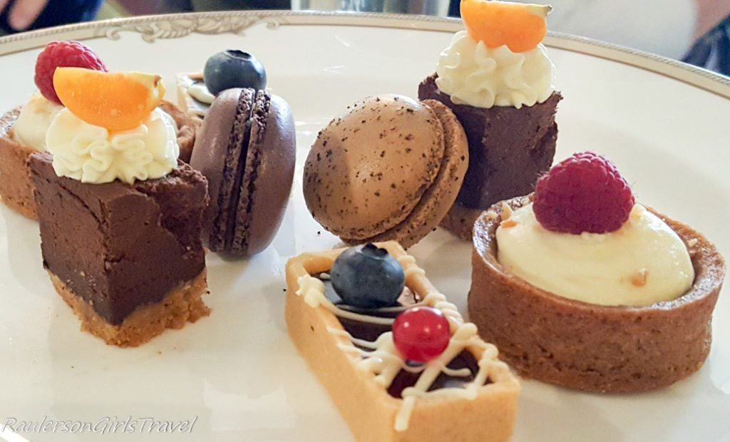 Dessert choices at Sheen Falls Lodge