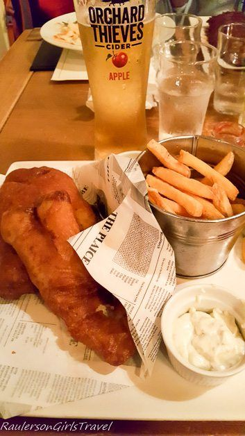 Fish and Chips at The Porterhouse - My favorite food and drink in Ireland you must try