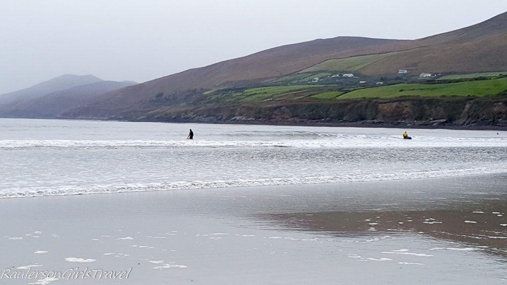 Surfers at Inch Beach Ireland