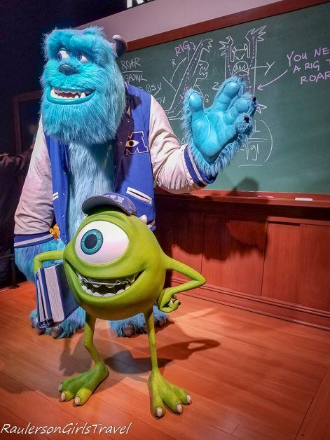 Mike and Sully from Monsters University