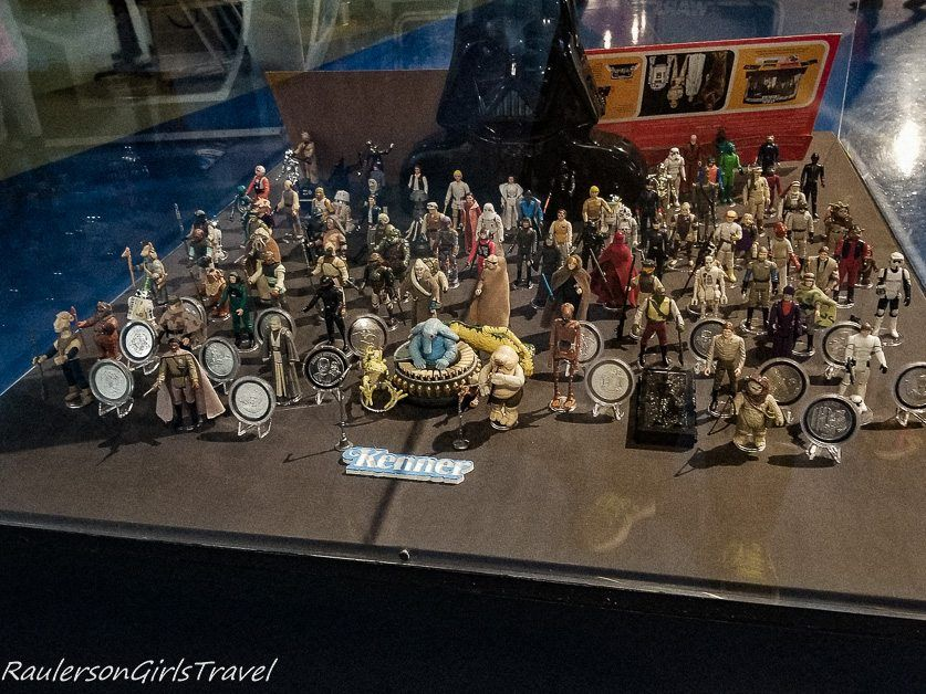 Oiriginal Kenner Star Wars action figures at the Air Zoo Museum