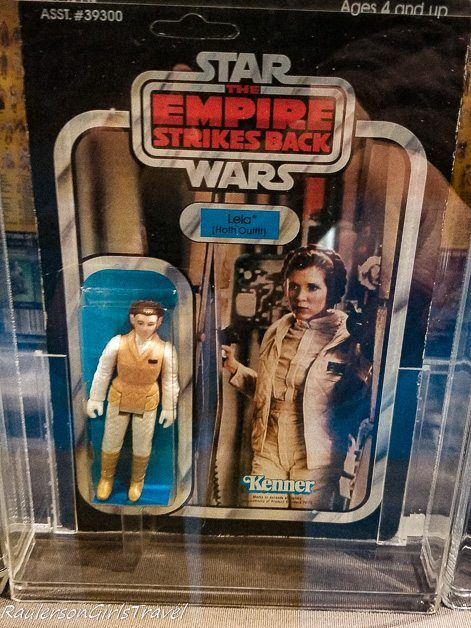 Princess Lei Star Wars action figure at the Air Zoo Museum