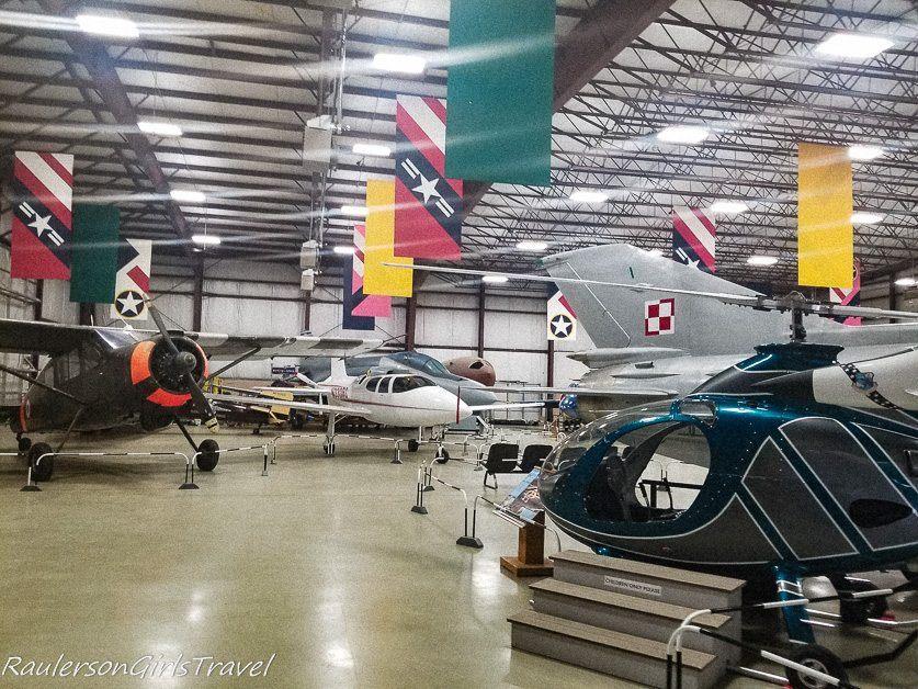 A Variety of Aircraft at the Air Zoo East Campus