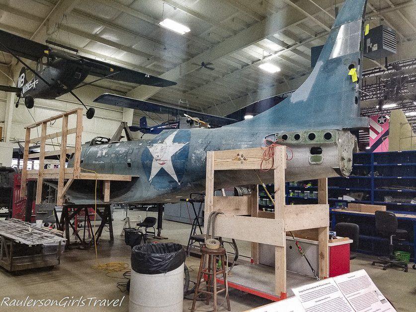 Douglass SBD Dauntless World War II bomber restoration project at the Air Zoo
