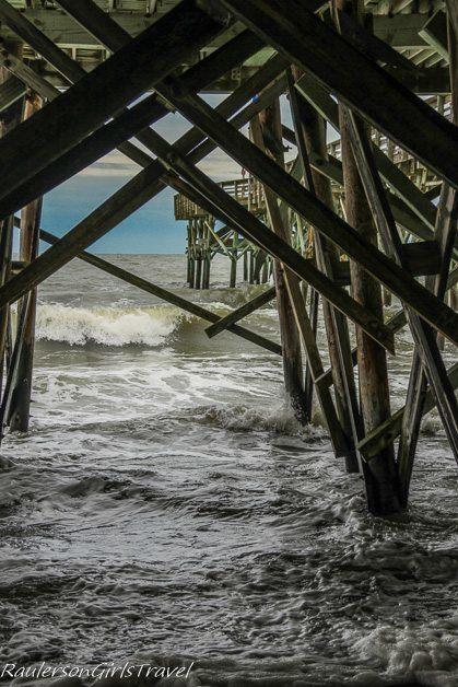 Underneath the pier at Myrtle Beach