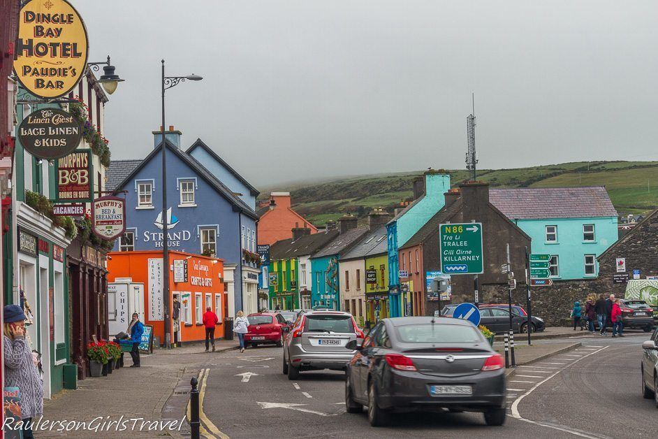 Colorful buildings in Dingle