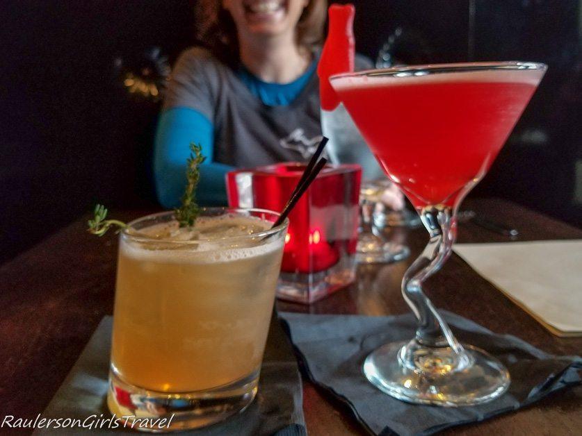 Cocktails at the Mad Hatter Bistro