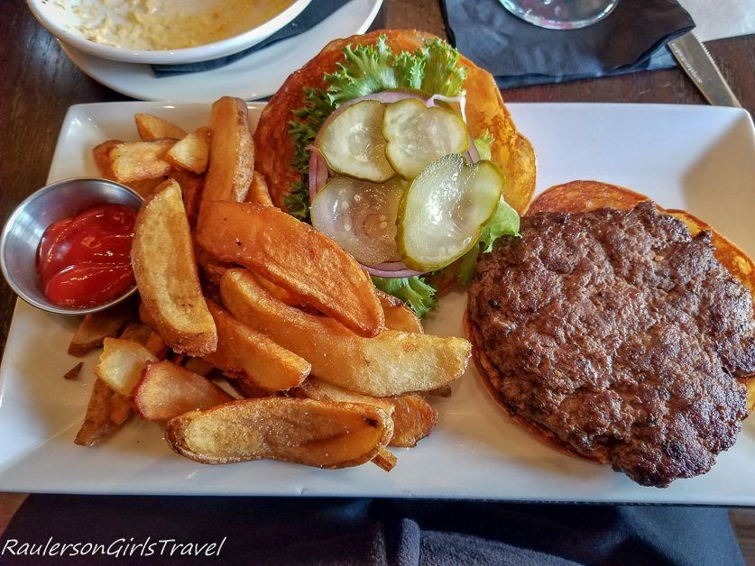 The Mad Hatter Burger at the Mad Hatter Bistro