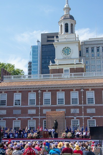 Celebration of Freedom Ceremony at Independence Hall