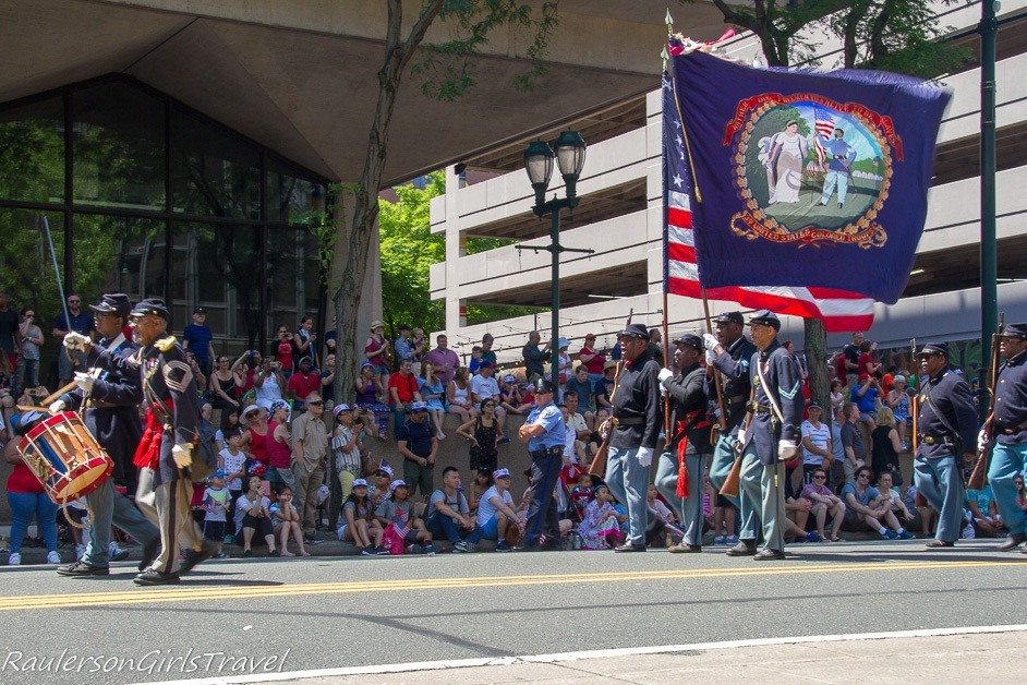 3rd United States Colored Troops in the Philadelphia Independence Day Parade