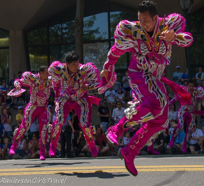 Colorful Dancers in the Independence Day Parade in Philadelphia