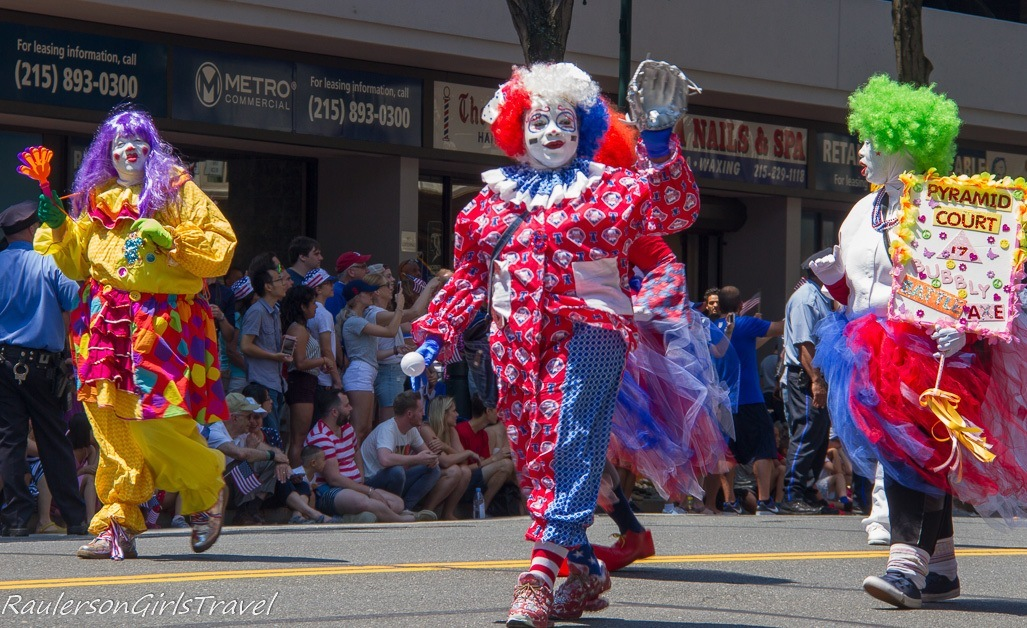 Clowns in the Philadelphia Independence Day Parade