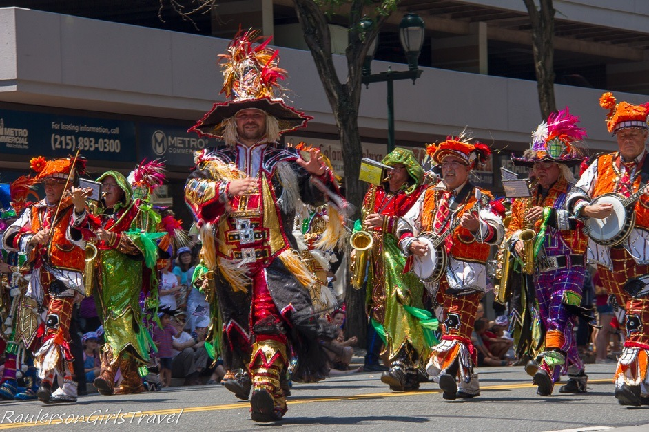 Philadelphia Mummers Colorful String Band - Celebrate America's Birthday