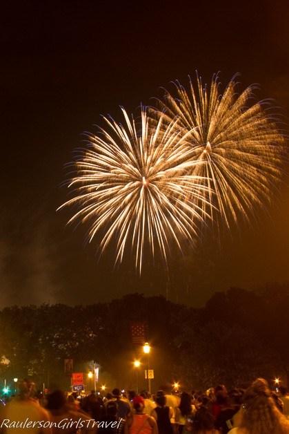 Watching the Wawa Welcome America Fireworks - Celebrate America's Birthday