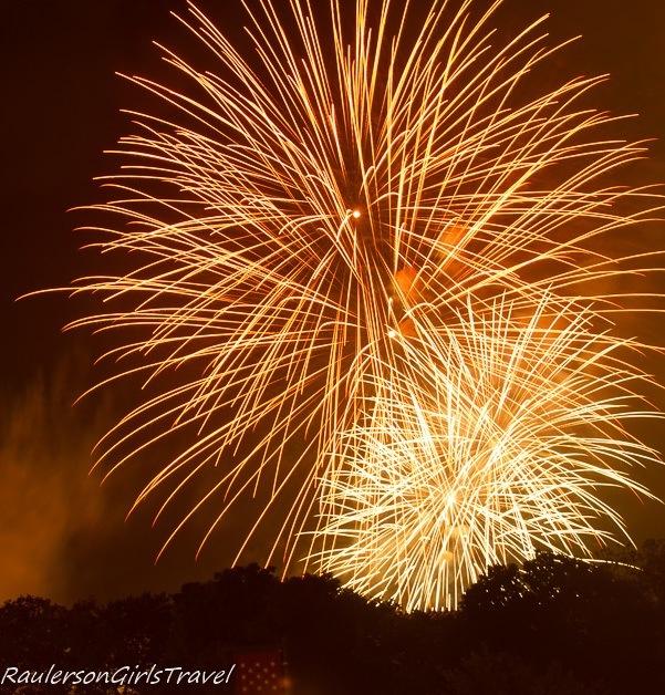 Firework display on 4th of July in Philadelphia