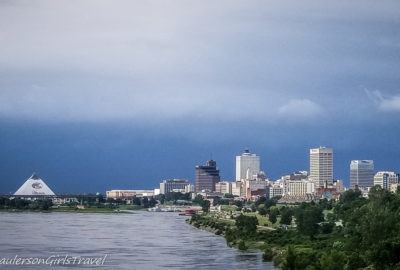Memphis City Skyline with Storm Clouds rolling in