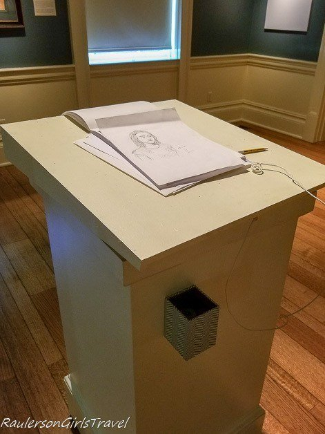 Drawing table at the Dixon Gallery and Gardens - unique things to do in Memphis