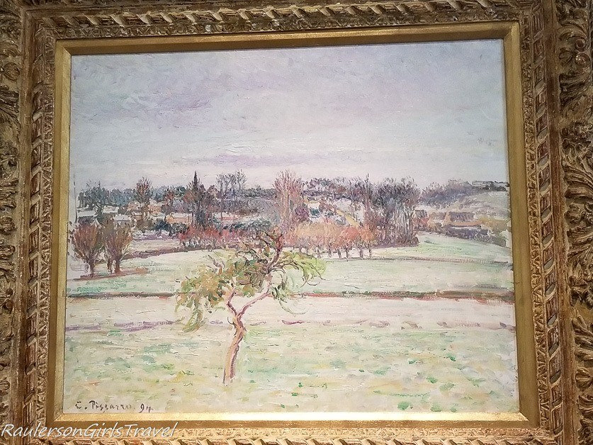 View from the artist's studio - Camille Pissarro oil paining