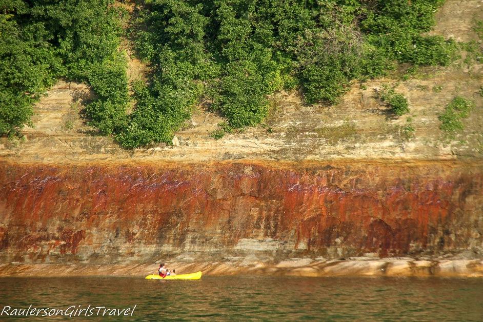 Kayaking by Pictured Rocks National Lakeshore