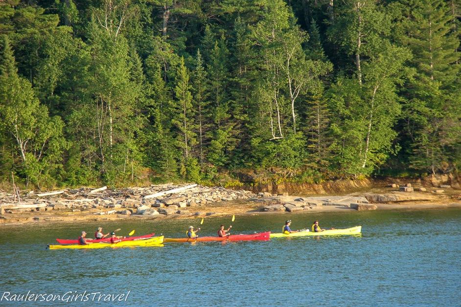 kayaks on Lake Superior