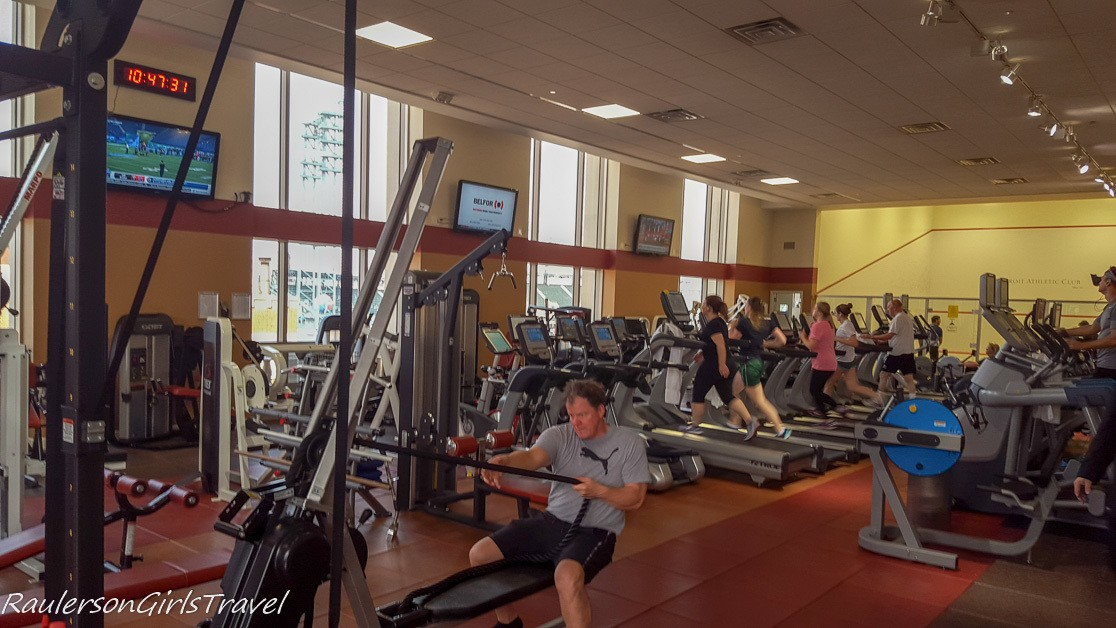 Detroit Athletic Club exercise room