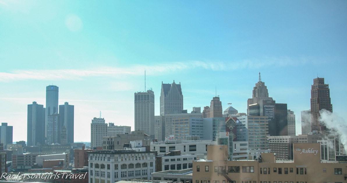 city skyline view from Detroit Athletic Club