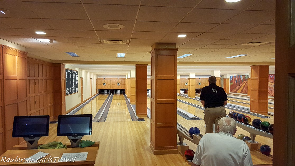 Inside the Detroit Athletic Club Bowling Alley