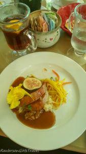Fig Stuffed Pork with Applewood and Brandy Glaze