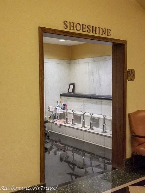 Shoeshine at the Peabody Hotel - History at the Peabody Hotel