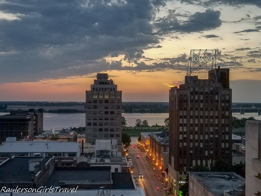 Sunset from the Peabody rooftop