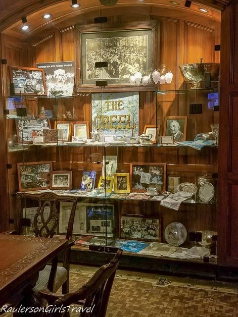 Memorabilia in the Peabody Memorabilia Room - History of the Peabody Hotel