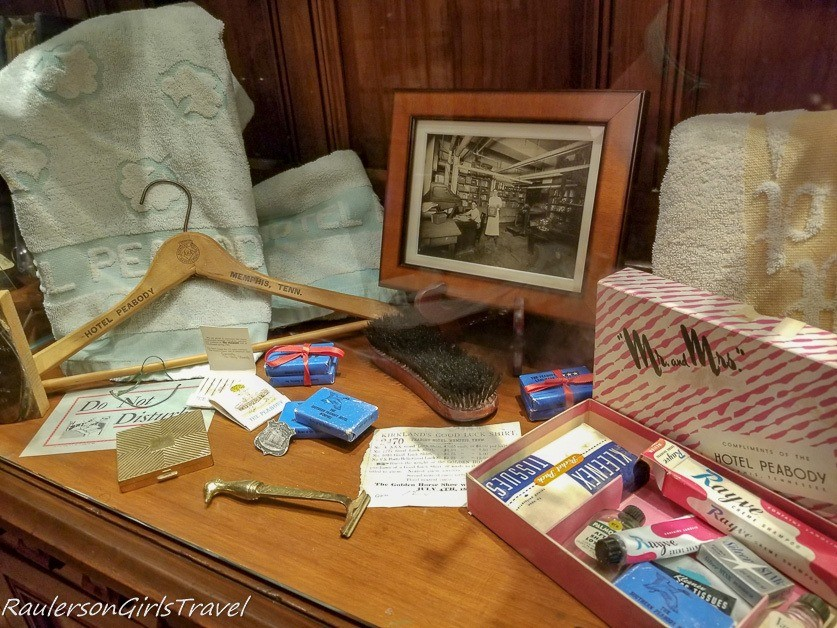 Toiletry items from the past - History at the Peabody Hotel