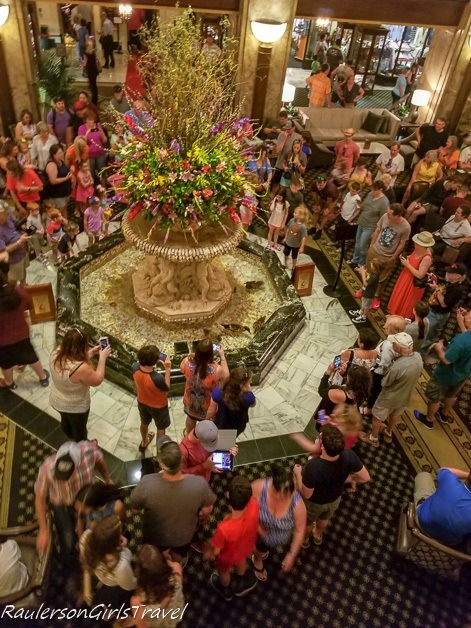 The crowds waiting for the Duck March at the Peabody Hotel - History at the Peabody Hotel
