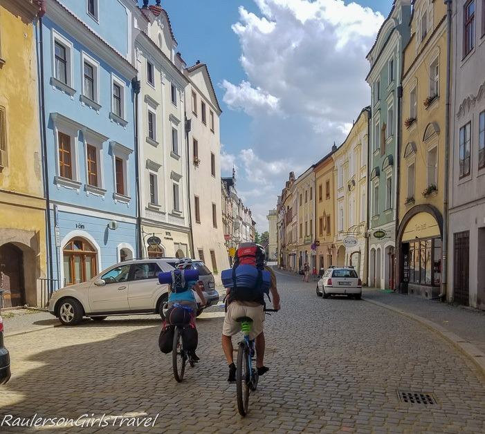 Biking through Pardubice