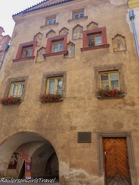 Oldest house in Pardubice with Niches