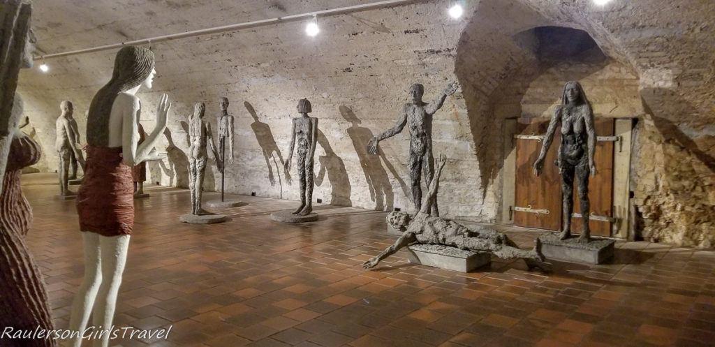 Multiple Olbram Zoubek sculptures