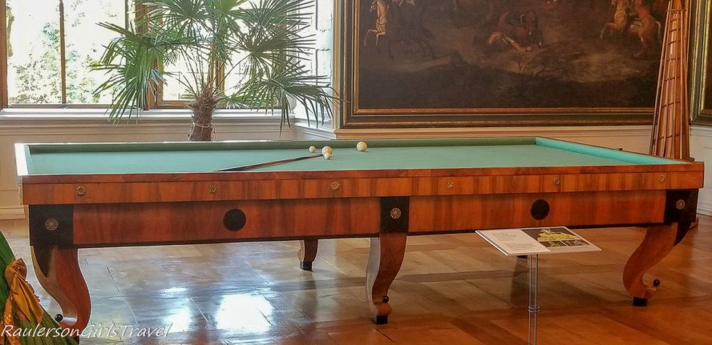 Litomyšl Castle billiards room