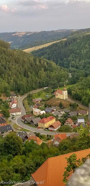 Hrad Svojanov view of the valley