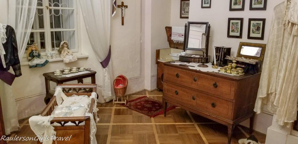 Katerina's bedroom in Svojanov Castle