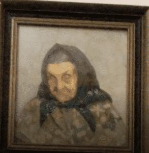 Old Woman painting in Svojanov castle - Is Svojanov Castle haunted?