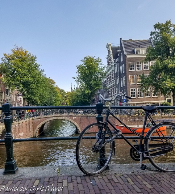 Bicycle on Bridge in Amsterdam