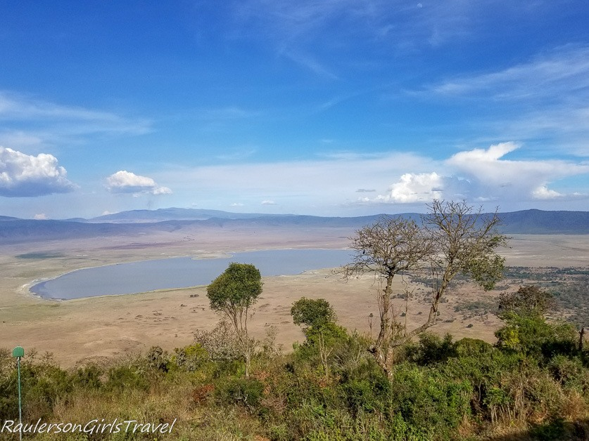 View of Ngorongoro Crater from room