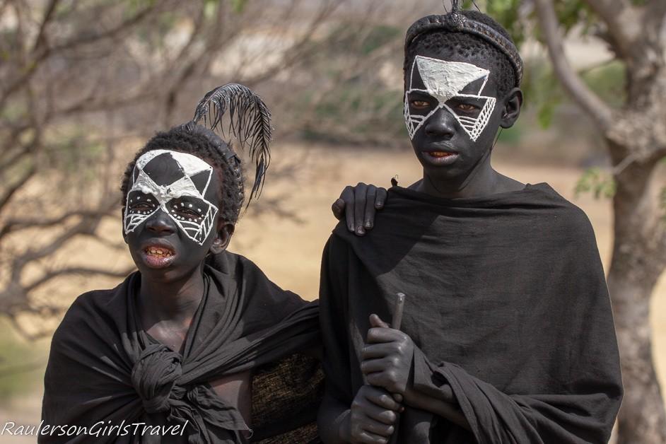 Maasai boys going through manhood