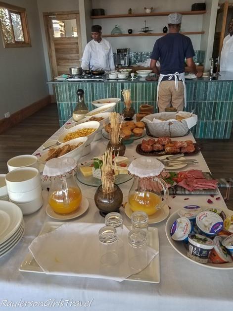 Breakfast Buffet at Lemala Mpingo Camp
