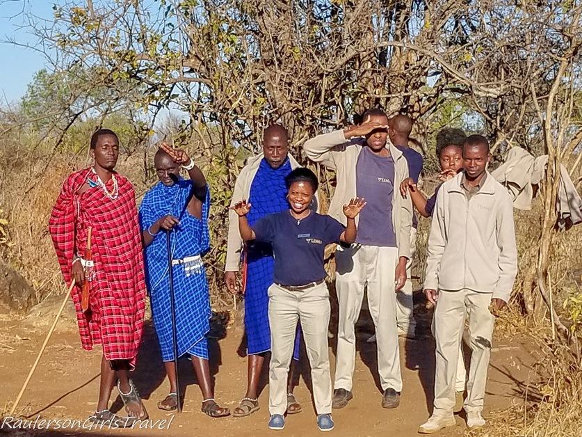Staff at Lemala Mpingo Camp