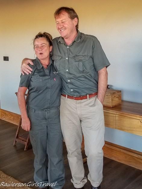 Margie and Boz at Lemala Mpingo Camp