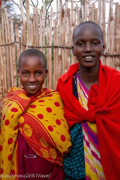 Two Maasai kids