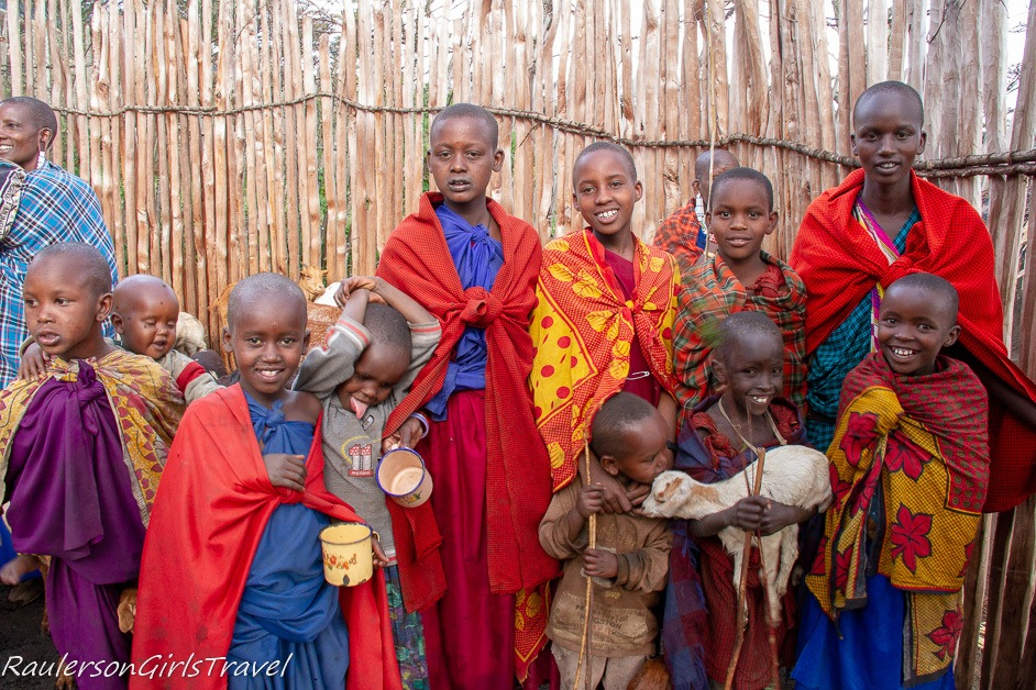 Group photo of the Maasai children